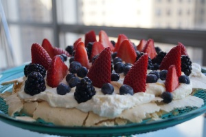 Lemon Curd Pavlova with Fresh Berries   Berries   Pinterest