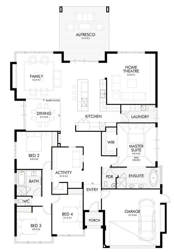 Diseño de casa de un piso estilo oriental con planos | Construye Hogar