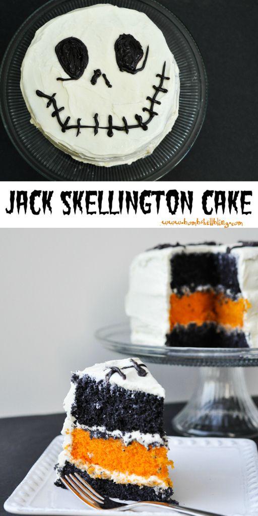 Jack Skellington Cake halloween cakes halloween food halloween recipe halloween recipes halloween party favors halloween party ideas jack skellington kids recipes