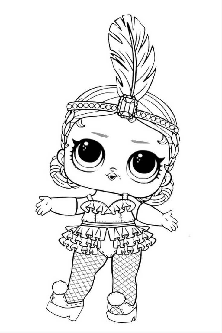 Free Lol Doll Coloring Pages Take Time To Releive Stress And Have