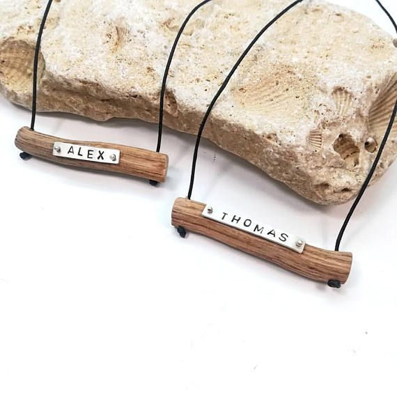 #etsy #NameΝecklace #Driftwood #SterlingSilver #PersonalizedGift #CouplesGift #LentiJewelry