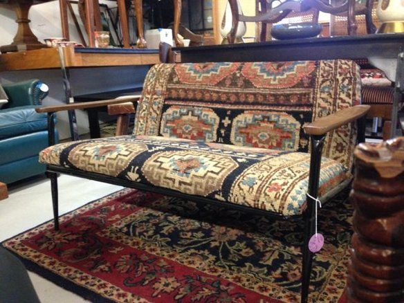 one of a kind 50u0027s style apartment size sofa