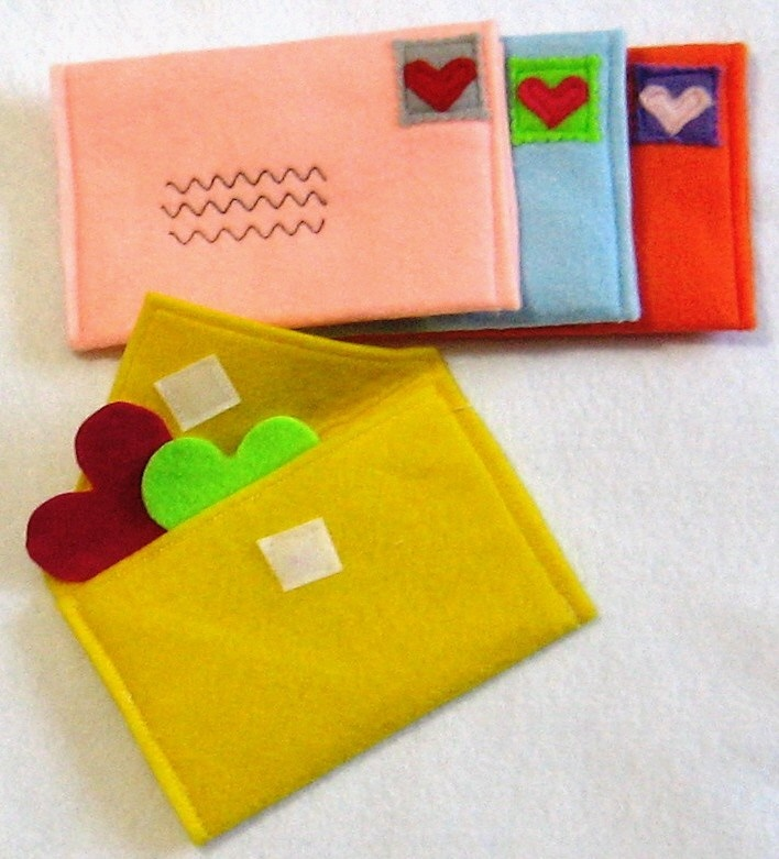 Envelopes for Pretend Play, Choose Your Colors, Custom Order. $22.00 USD, via Etsy.