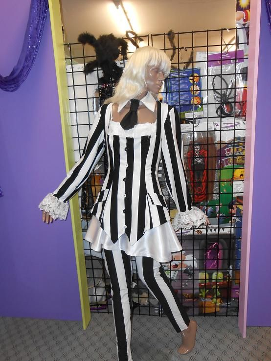 Beetle Juice girl available for hire in size 12