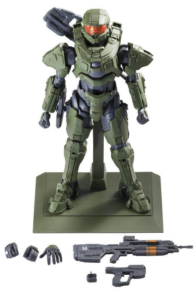 Maqueta Master Chief 18 cm. Halo. Bandai Estupenda maqueta para montar del Jefe Maestro o Master Chuief de 18 cm de altura, fabricado en PVC y visto en el videojuego Halo, 100% oficial y licenciada.