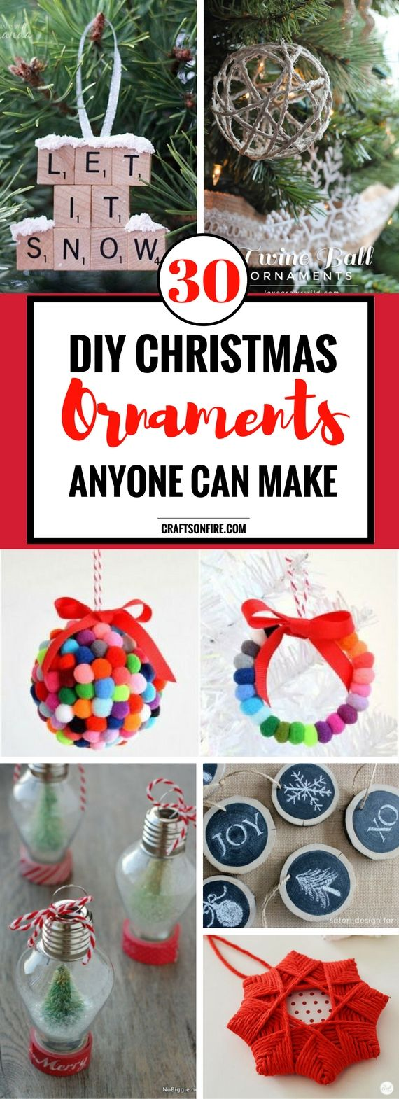 Ready for Christmas yet? If you're looking for EASY and CHEAP diy projects to decorate your home this Christmas then you have to check out this AWESOME list of diy Christmas Ornaments. The wooden slates and snow globes are EPIC!