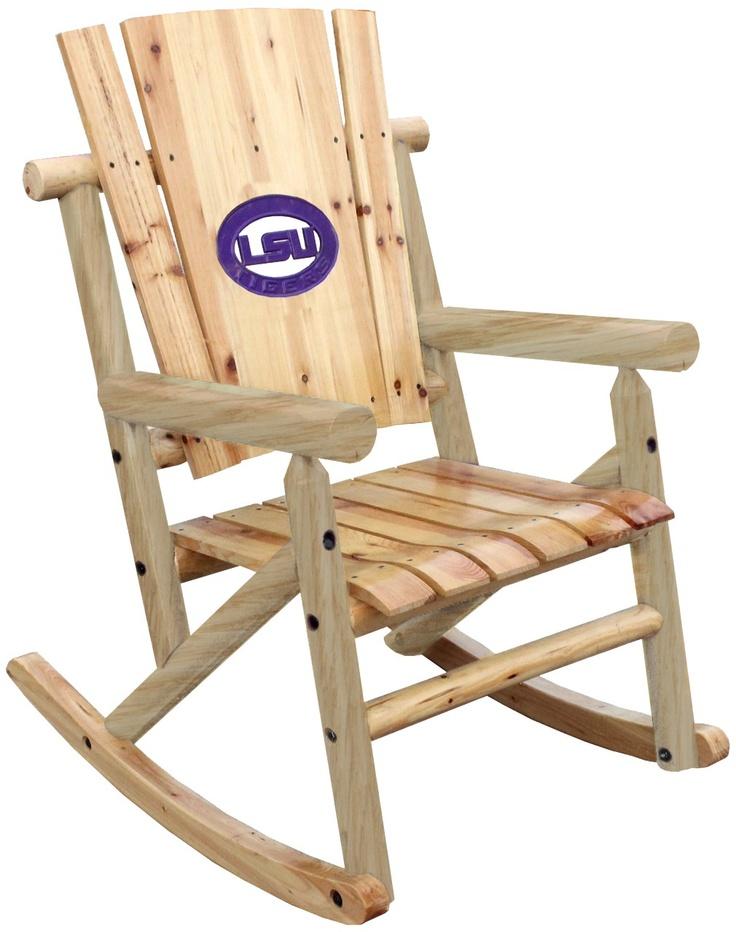 LSU Wood Rocker - LSU Tigers - SHOP SPECIALS - Stine