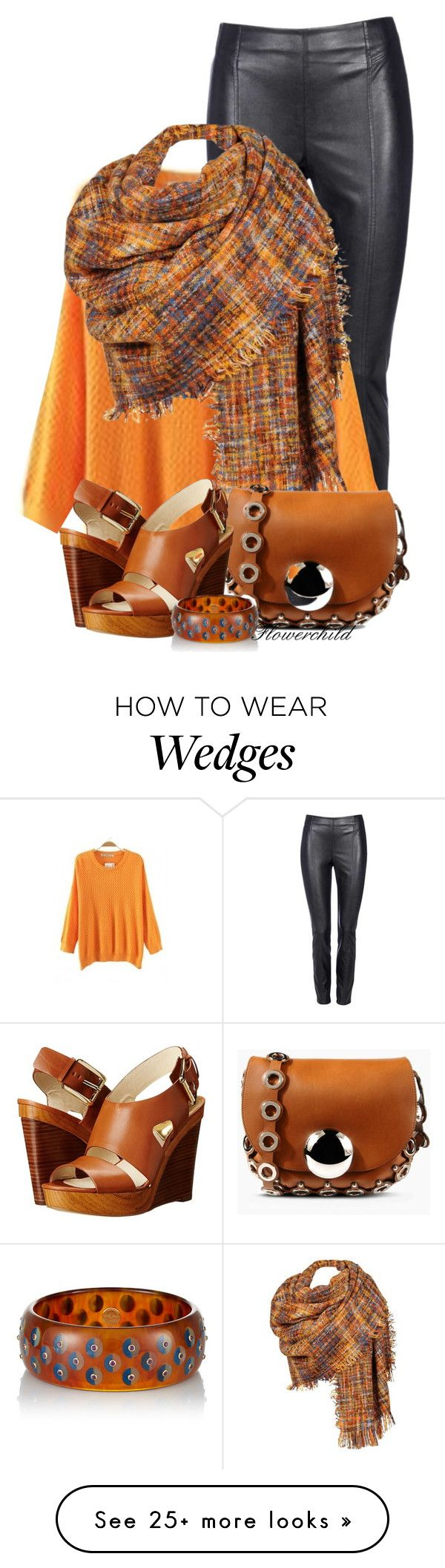 """Sweater & Leather Leggings"" by flowerchild805 on Polyvore featuring moda, Wallis, Black Rivet, Emilio Pucci, MICHAEL Michael Kors e Mark Davis"
