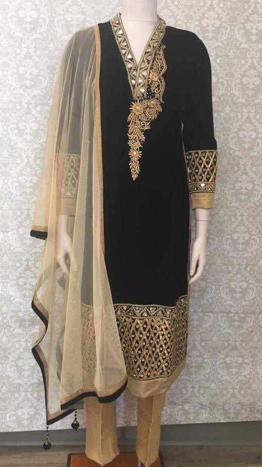 Party Wear Straight Cut Churidar Suit