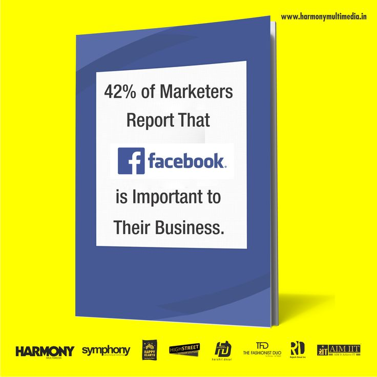 42% of Marketers Report That FACEBOOK is Important to Their Business. #HarmonyAdvertising