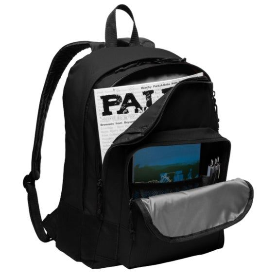 Basic Backpack BG204 Custom Personalized Your Text /& Number School Travel Bag