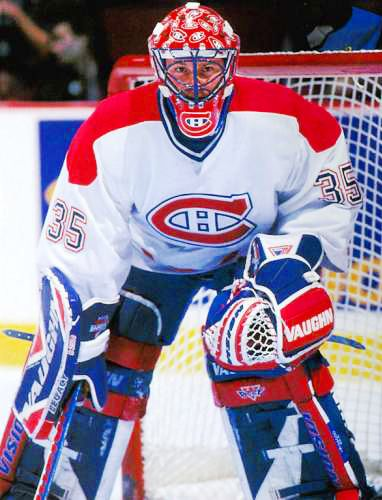 Andy Moog in net for Montreal Canadians