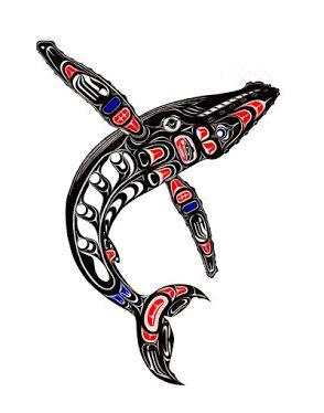 Haida Art Whale Humpback Whale Haida art Pacific northwest art Native art