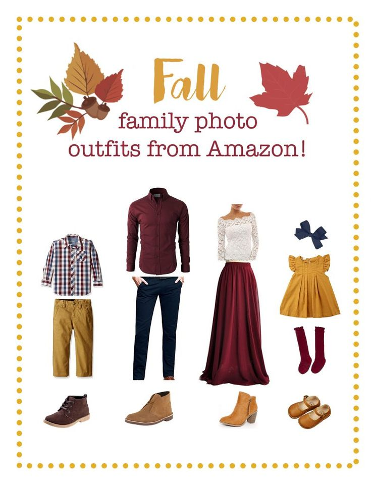 Fall family picture outfits from Amazon