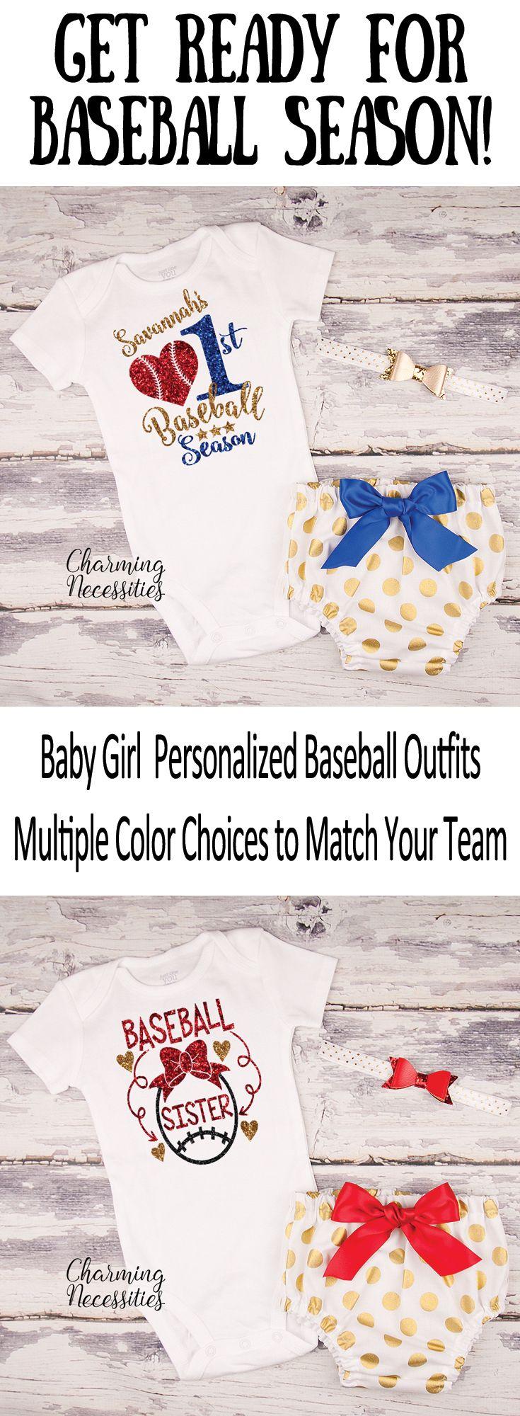 Personalized Baby Girl Baseball Shirt, Baseball Sister Bodysuit, Toddler Girl Baseball Outfit, First Baseball Season, Baseball Fan Gift