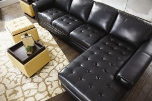 leather sofa sleeper with chaise