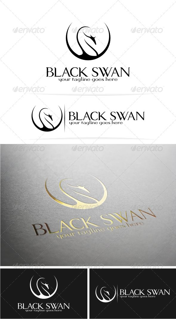 Black Swan  Logo Design Template Vector #logotype Download it here: http://graphicriver.net/item/black-swan-logo/5150336?s_rank=991?ref=nesto