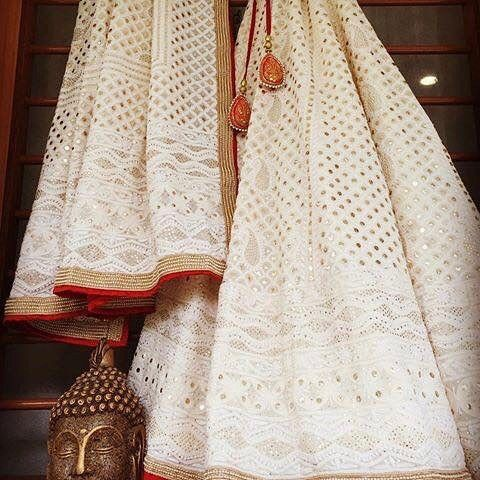 This chikan kari Lehenga is another find that we are ...