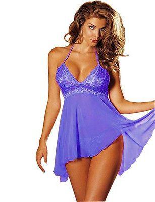 PLUS SIZE S-6XL Wholesale Womens Sexy Lingerie Sleepwear Babydoll Underwear Robe - BUY NOW ONLY 5.45