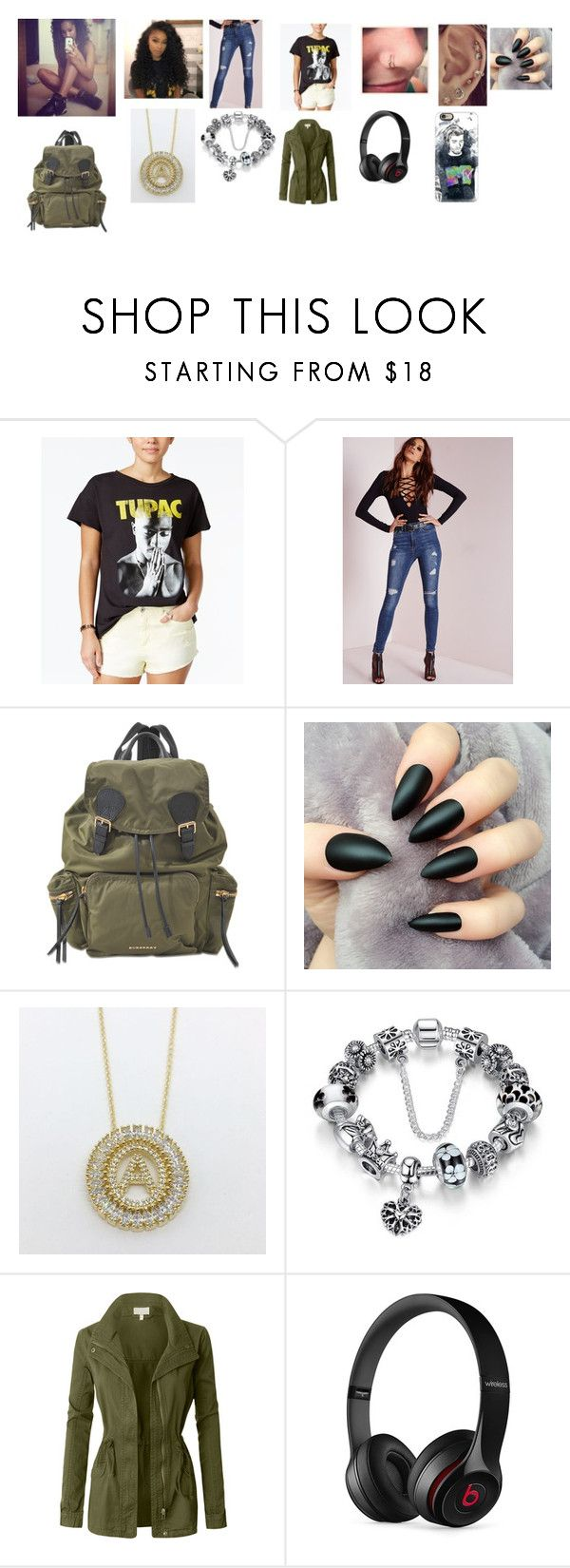 """""""Janet jackson and Tupac Shakur's daughter"""" by scarletslytherin123 on Polyvore featuring NTD, Missguided, Burberry, LE3NO, Beats by Dr. Dre and Casetify"""