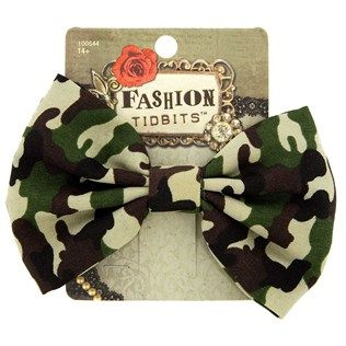 fashion tidbits camo bow hair clip