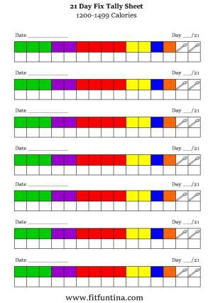 Gorgeous image throughout 21 day fix tally sheets printable