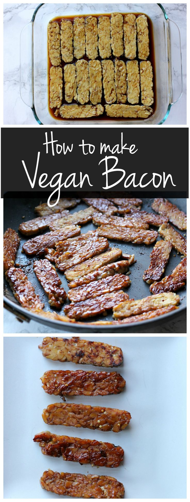 This vegan tempeh bacon is crispy, smokey, and delicious! Learn how to make it in a few easy steps!