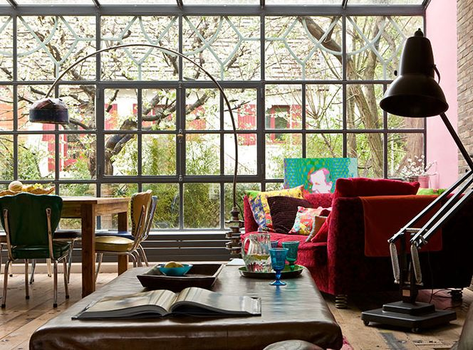 windowsSunrooms, Livingroom, Bohemian Living, Living Room, Work Room, Chic Interiors, Windows, Bohemian Style, Design