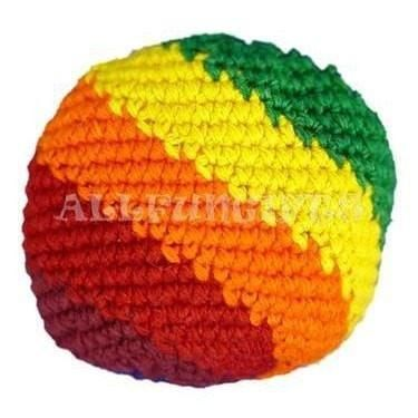 Rainbow Striped Footbag / Hacky Sack - The Hippie House