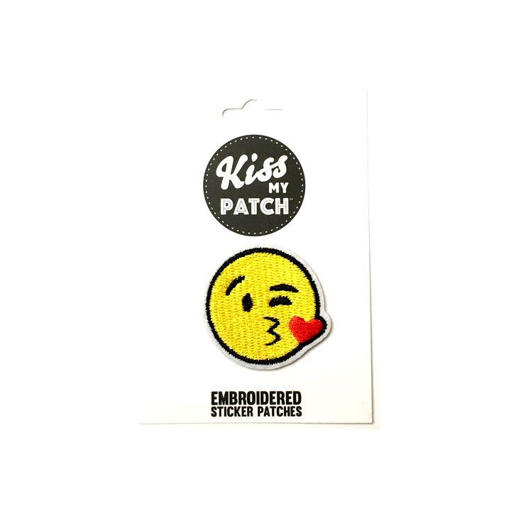 Kissy Emoji Sticker Patch
