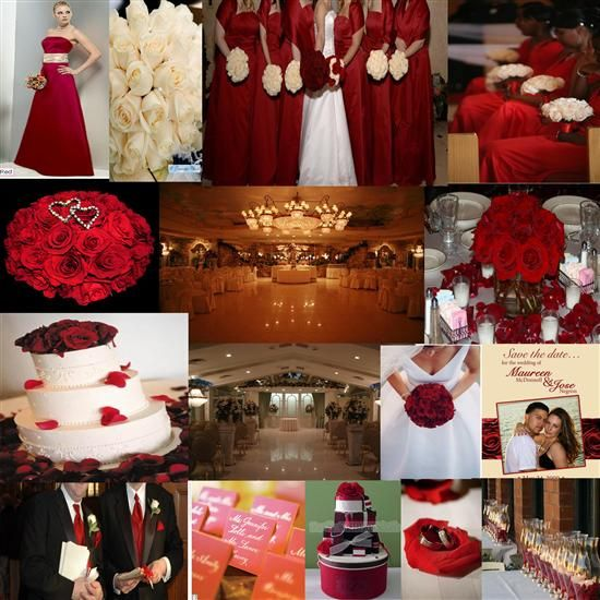 Red And Brown Wedding Colors | ... color inspiration - dark red, ivory/champagne . . . - Project Wedding