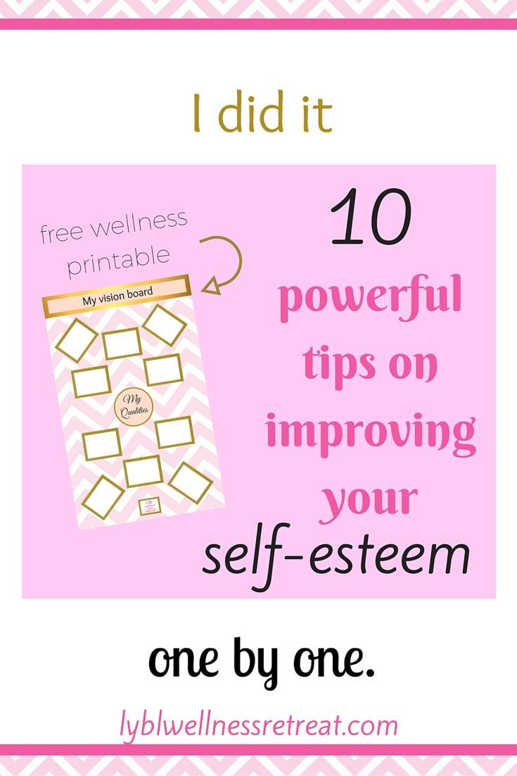 how to get help for low self esteem