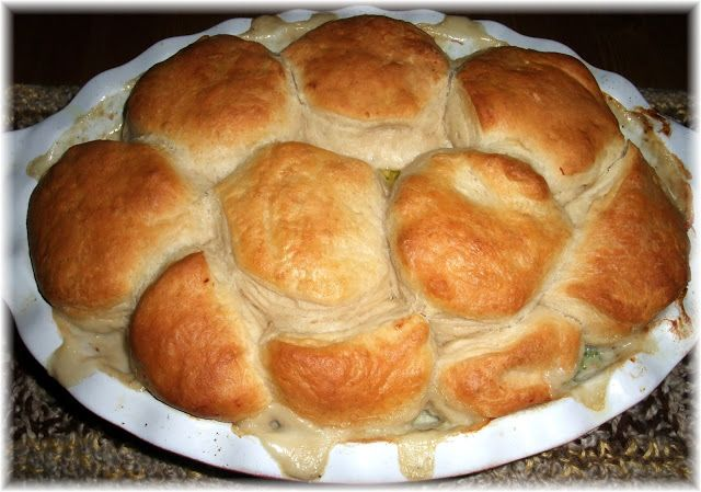 Rosie's Country Baking: Easy Chicken Pot Pie with Grands Biscuit Topping