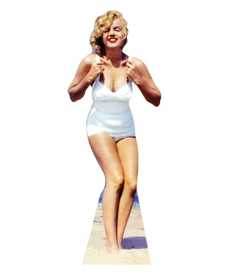 Take a look at this Marilyn Monroe White Swimsuit Cardboard Cutout today!