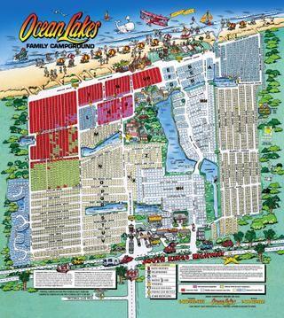 Ocean Lakes Map Ocean Lakes Family Campground map in 2019 | Favorite Places  Ocean Lakes Map