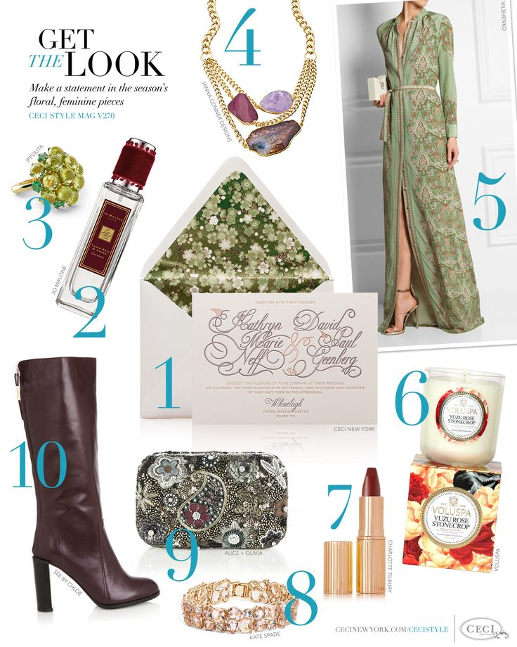 CeciStyle Magazine v270: Get The Look - Floral Fall - Make ...