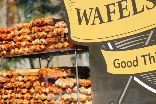 The best sugar rush - a Belgian waffle and spekuloos sauce from the Wafels and Dinges truck