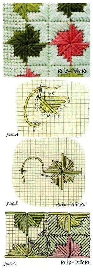 Комбинированный шов вертушка.