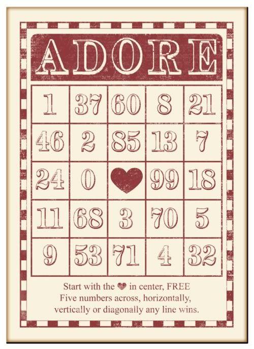 bingo card photo: Adore bingo card Valentine4.jpg