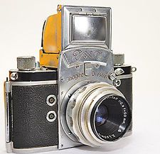 Ihagee Dresden Exa *Version 4.2 *Name graviert + MERITAR 2,9 f=50mm + Ta. (7949)