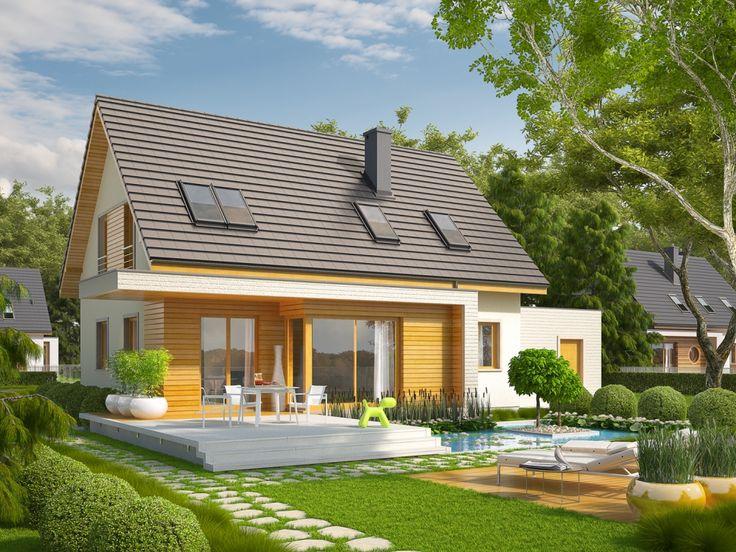 DOM.PL™ - Projekt domu AC Nikodem G1 CE - DOM AF2-88 - gotowy projekt domu