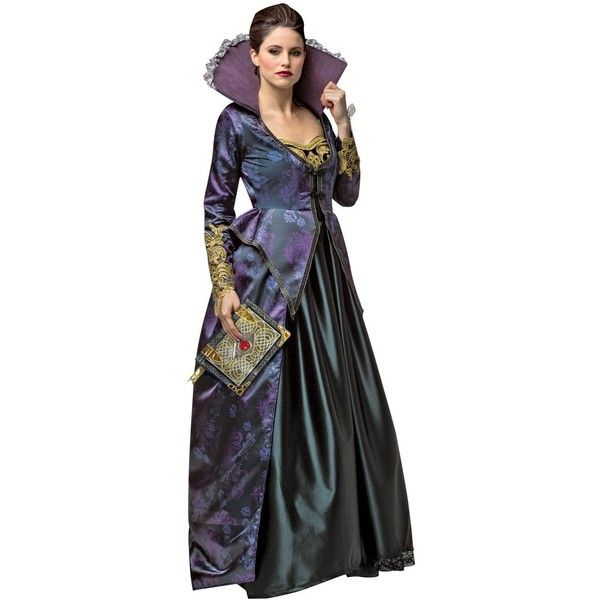 Once Upon A Time Evil Queen Costume For Women ($80) ❤ liked on Polyvore featuring costumes, halloween costumes, black halloween costumes, womens costumes, evil queen costume, party costumes and bad girls