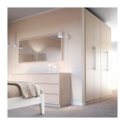 stave mirror black brown ikea birches and mirror. Black Bedroom Furniture Sets. Home Design Ideas