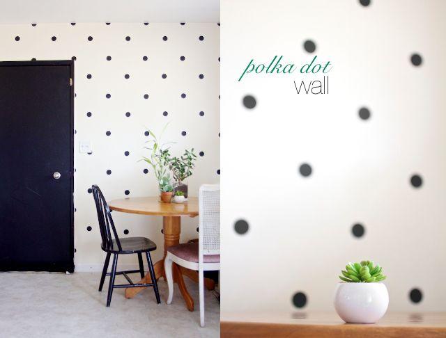 ~Ruffles And Stuff~: Our DIY Polka Dot Wall!