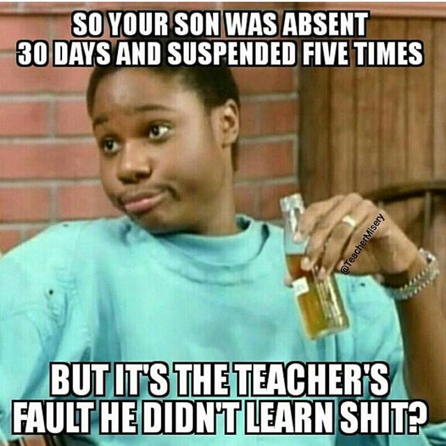 It's always our fault!!