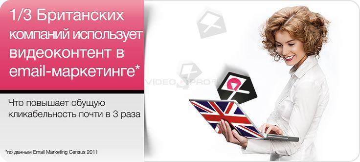 1/3 Британских компаний использует видеоконтент в email-маркетинге