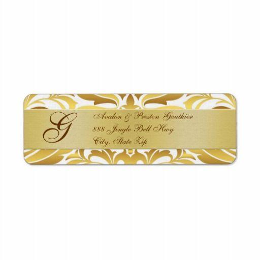 gold foil address labels arts arts