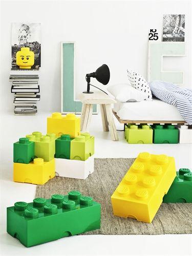 Lego, Oppbevaring, 2 Lime Oppbevaringsbokser, kurver & bokser Sparing og oppbevaring Barnerom hos Lekmer.no på nettet.