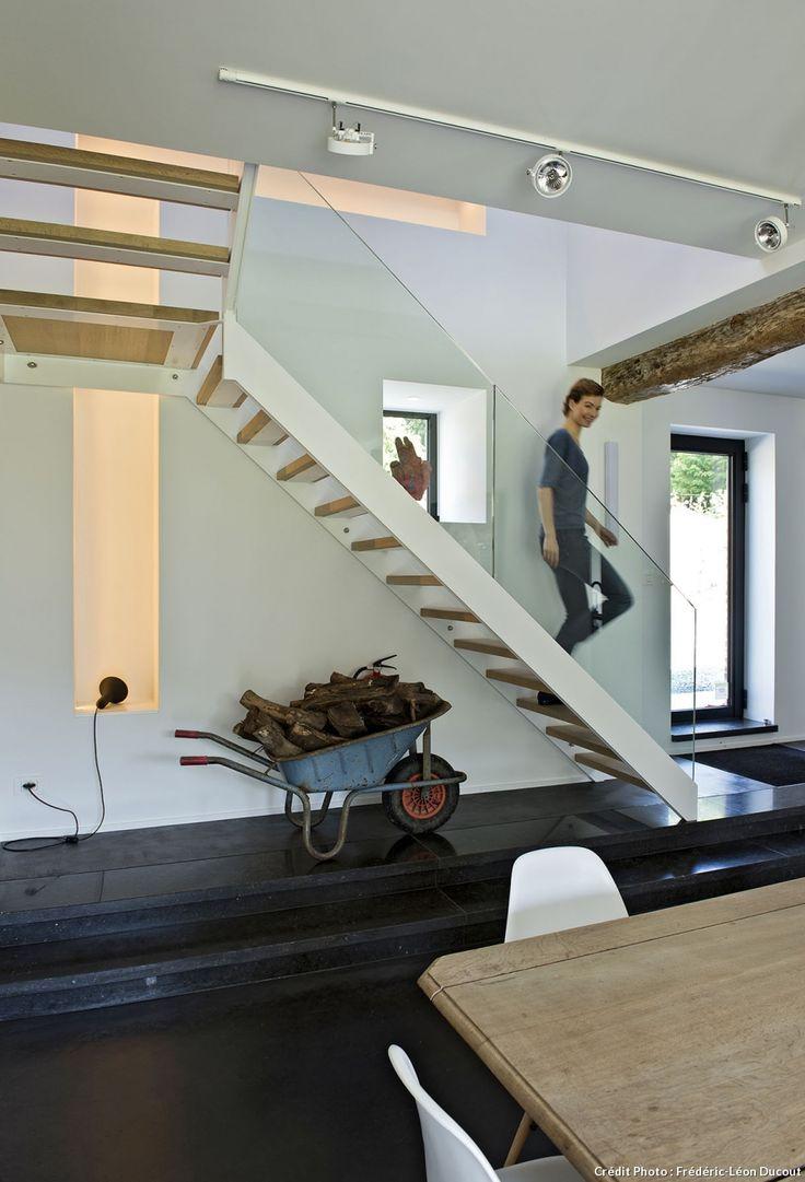 Escalier garde corps en verre