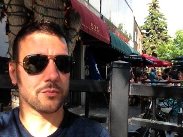 Taken from his Twitter feed while he's in Calgary. #Strombo
